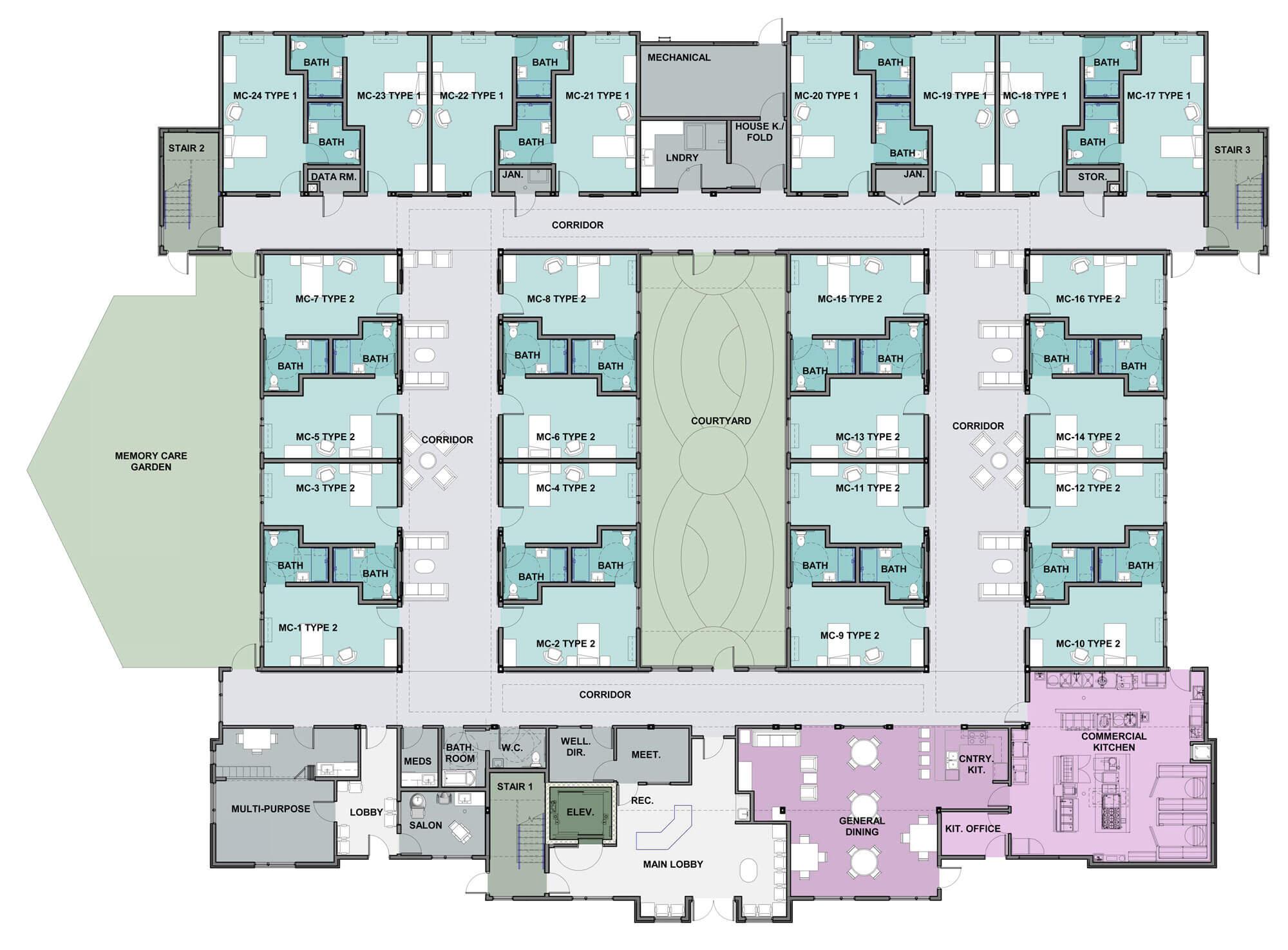 Sopris Lodge floor plan