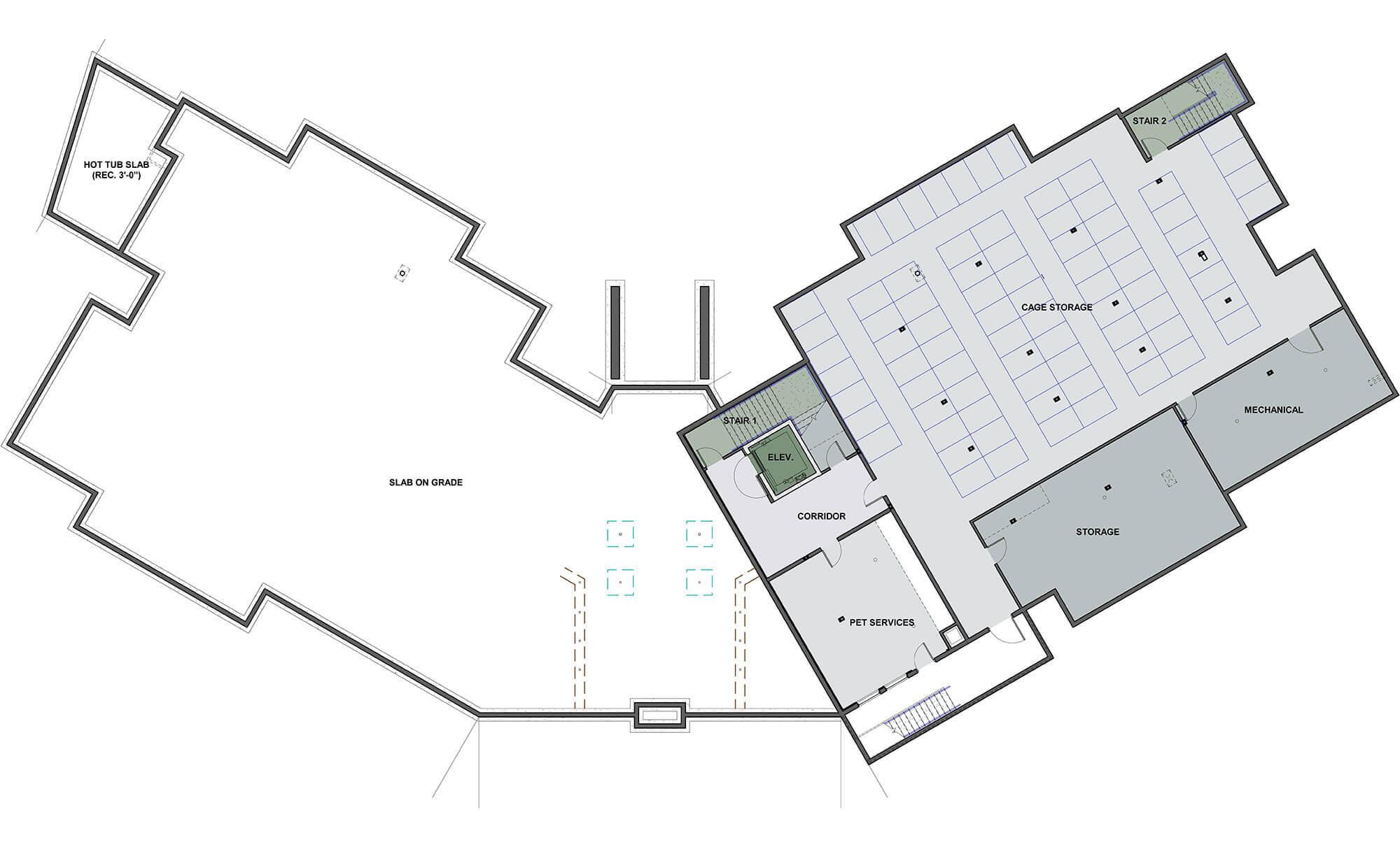 Sopris Lodge floor plan rendering