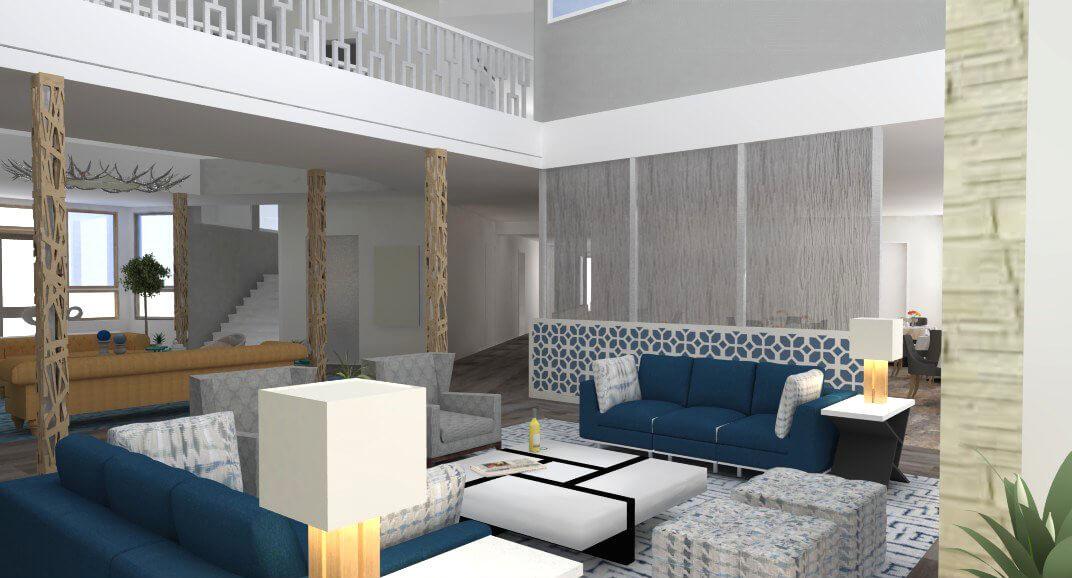 Sopris Lodge Interior Rendering